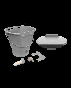 Hiko Speenemmer met deksel | 8 liter | grijs | compleet