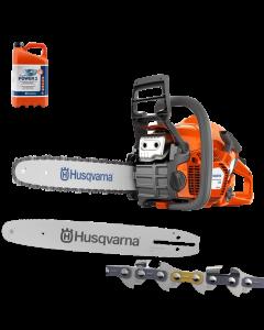 Husqvarna Kettingzaag 135 Mark II | benzine | + extra zaagblad en ketting