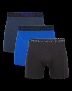 Bamboo Basics Boxershorts | Zwart/Navy/Blauw | 3 stuks | BTN de Haas