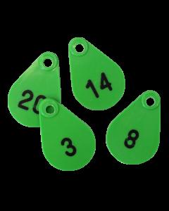 Hals-/neknummers voor schaap groen BTN de Haas