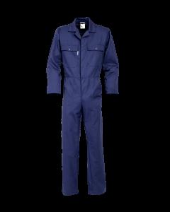 afbeelding_Overall blauw drukknoop polyesterkatoen Havep BTN de Haas