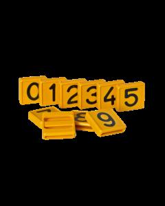 Schuifnummers tbv. koe/pinkband