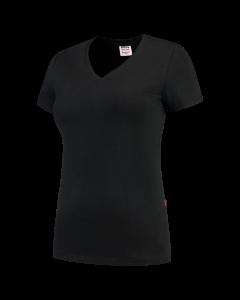 Tricorp Dames T-shirt slim-fit | V-hals | 101008 | Zwart  | BTN de Haas