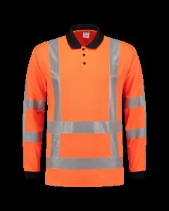 Tricorp Poloshirt lange mouw RWS  203005  Oranje   ISO 20471   BTN de Haas